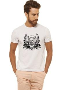Camiseta Joss - Caveira Rock - Masculina - Masculino-Branco