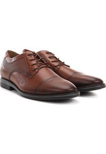 Sapato Social Couro West Coast Dallas Masculino - Masculino-Caramelo