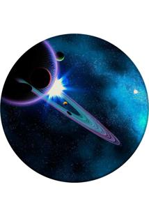 Tapete Love Decor Redondo Wevans Galaxy Azul 84Cm