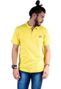 Camisa Polo Hipica Polo Club Estilo Classic Bb Masculina - Masculino-Amarelo Claro