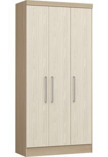 Modulo Com 3 Portas E 2 Gavetas Infinity 3830A-Castro Móveis - Nogueira / Nudi