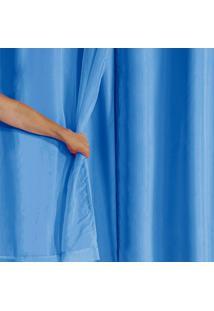 Cortina Blackout Pvc Com Tecido Voil 2,00 M X 1,40 M Azul - Multicolorido - Dafiti