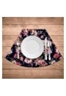 Jogo Americano Para Mesa Redonda Wevans Flowers Paradise Kit Com 6 Pçs