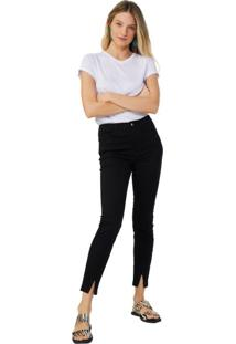 Calça Sarja Skinny Fenda Frontal