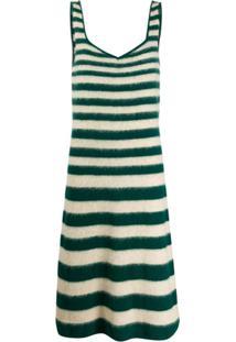 Marni Vestido Listrado De Tricô - Verde