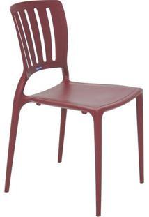 Cadeira Sofia- Vinho- 82,5X44,5X53Cm- Tramontinatramontina