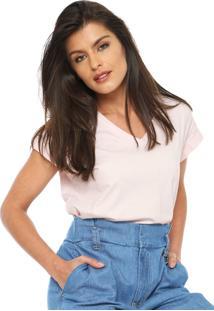Camiseta Calvin Klein Ampla Rosa