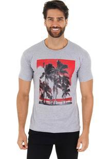 Camiseta Tropical Masculina Maidale - Cza/Vrm