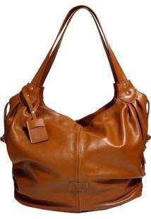 Bolsa Line Store Leather Malú Couro Caramelo.