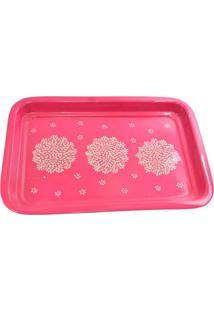 Bandeja Floral Pink Ii 33X23X3 Cm Trevisan Concept