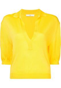 7cfb6120dae86 ... Tibi Camisa Polo Mangas Curtas - Amarelo