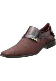 Sapato Goffer Social - Masculino-Vinho