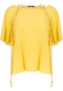 Corporeum Blusa Com Detalhe Entrelaçado - Amarelo