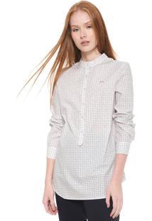 Camisa Lacoste Reta Estampada Branca