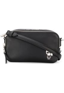 Karl Lagerfeld Ikonik Logo Plaque Mini Bag - Preto