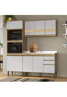 Cozinha Completa Mdf Detalhe Em Vidro Mel E Off White Lilies