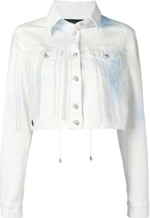 Philipp Plein Jaqueta Jeans Com Franjas - Branco