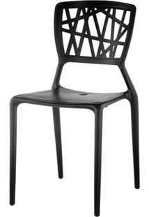 Cadeira Melissa Em Polipropileno Preto - 11365 Sun House