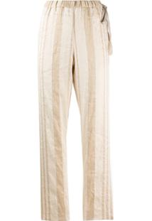 Forte Forte Striped Tapered Trousers - Neutro