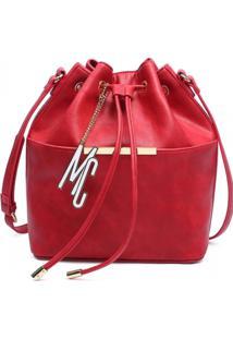 Bolsa Saco Macadamia Vermelha
