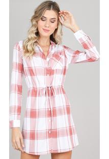 cf52bd287 R$ 99,99. CEA Vestido Xadrez Viscose Embutir Solto Curto Chemise Com Manga  Longa Estampado Clock Branco Esporte Feminino