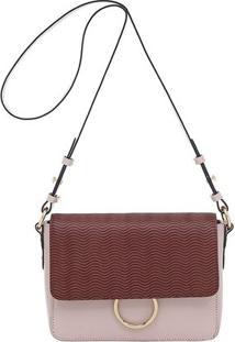 Bolsa Smartbag Couto Ondas - Feminino-Marrom