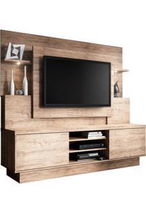Estante Home Theater Para Tv Até 55 Polegadas Aron Smart Flex Naturale/Wengue - Linea Brasil
