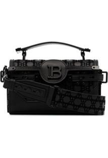 Balmain B-Buzz 19 Logo-Embossed Baguette Bag - Preto