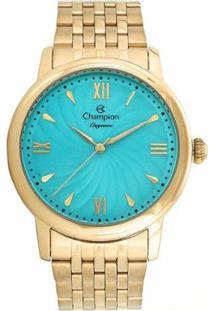 Kit Relógio Champion Analógico Cn27787Y Feminino - Feminino-Dourado