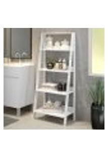 Estante Organizadora Multiuso Para Banheiro Com 4 Prateleiras Madesa - Branco