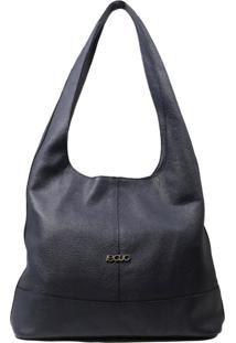 Bolsa De Couro Recuo Fashion Bag Hobo Azul