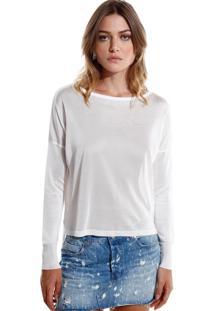 Blusa Rosa Chá Jamile I Tricot Off White Feminina (Off White, G)