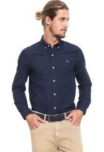 Camisa Lacoste Reta Logo Azul-Marinho
