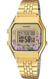 Relógio Casio Vintage Feminino - Feminino-Dourado
