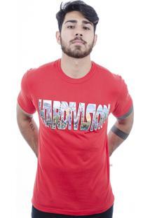 Camiseta Hardivision Park Manga Curta - Masculino-Vermelho