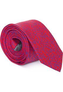 Gravata Floral Blue - Vermelho