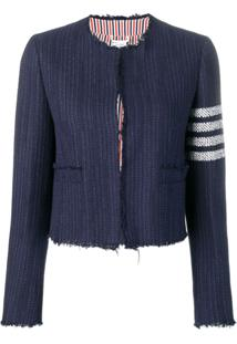 Thom Browne Cropped Tweed Jacket - Azul