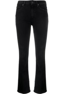 Dondup Charlotte Mid-Rise Bootcut Jeans - Preto
