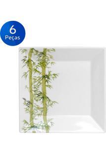 Conjunto De Pratos Fundos 6 Peças Quartier Bamboo - Branco