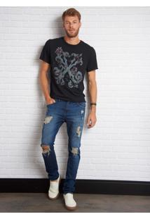 Calça John John Super Skinny Kinbrace Jeans Azul Masculina Cc Super Skinny Kinbrace-Jeans Medio-36