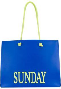 Alberta Ferretti Bolsa Tote Grande 'Sunday' - Azul