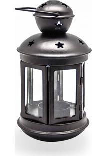 Luminaria Para Velas Com Vidro Estrelas Decor E Casa