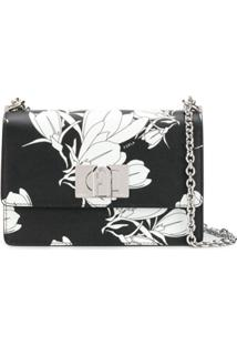 Furla 1927 Floral-Print Crossbody Bag - Preto