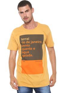 Camiseta Redley Silk Terral Amarela