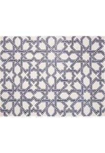 Tapete Dhurie Moroccan 3 White/Dark Blue