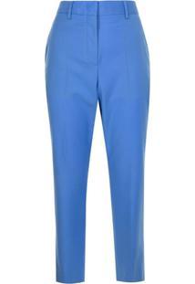 Paul Smith Calça De Alfaiataria Cropped De Lã Mista - Azul