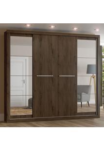 Guarda-Roupa 4 Portas Elegance D196-101 Café - Henn