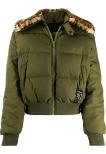 Marc Jacobs Cropped Bomber Jacket - Verde