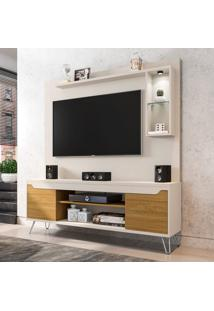 Estante Para Home Theater E Tv Até 52 Polegadas Gabbana Off White E Marrom