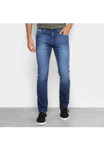 Calça Jeans Slim Replay Ronas Masculina - Masculino-Azul